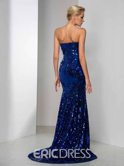 Ericdress Sweetheart Sequins Mermaid Reflective Evening Dress