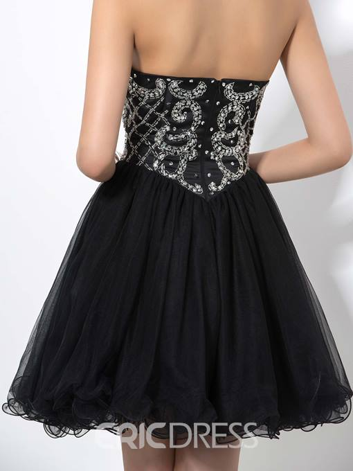Ericdress Sweetheart Sequins Piping Homecoming Dress