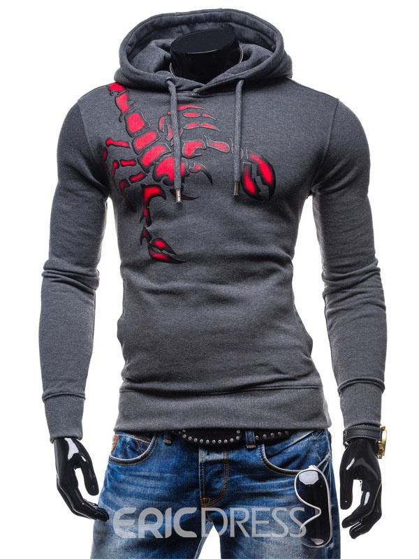 Ericdress Animal Print Men's Casual Hoodie