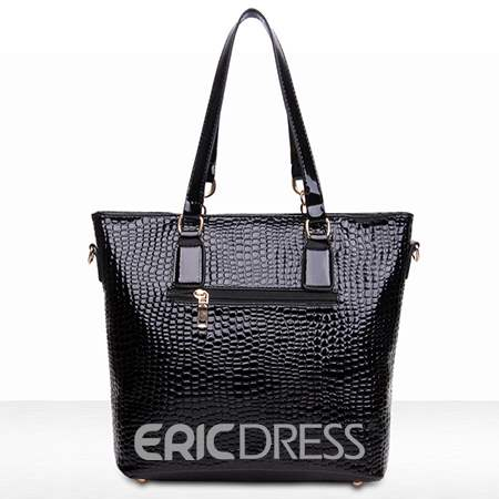 Ericdress Solid Color Croco Tote Bags(6 Bags)