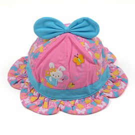 Cute Bowknot Decorated Soft Kids Hat