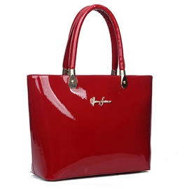Ericdress OL Style Shiny Patent Leather Handbag