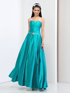 Ericdress A-Line Pleats Sweetheart Sequins Beading Prom Dress