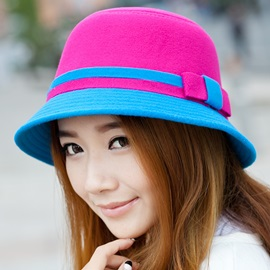 England Style Colors Matching Female Hat