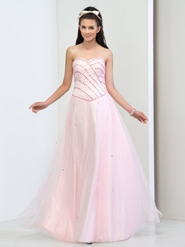 Ericdrsess A-Line Sweetheart Beading Lace-up Prom Dress