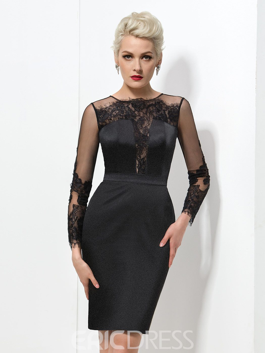 Ericdress Long Sleeve Lace Cocktail Dress