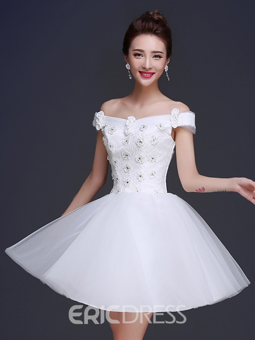 Ericdress A-Line Sweetheart Neckline Lace Mini Homecoming Dress