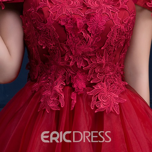 Ericdress Off-the-Shoulder A-Line Lace Mini Homecoming Dress