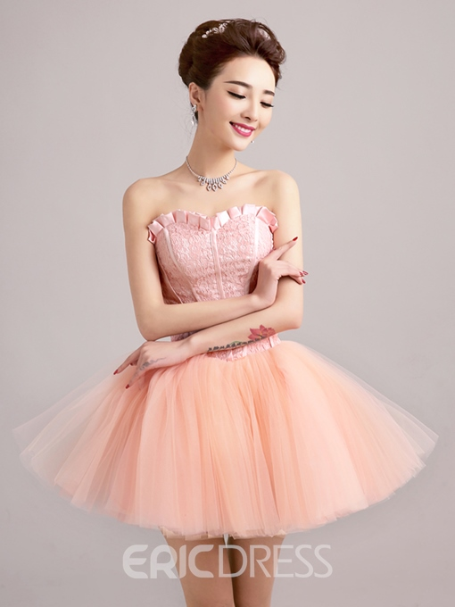 Ericdress A-Line Sweetheart Neckline Lace Short Homecoming Dress