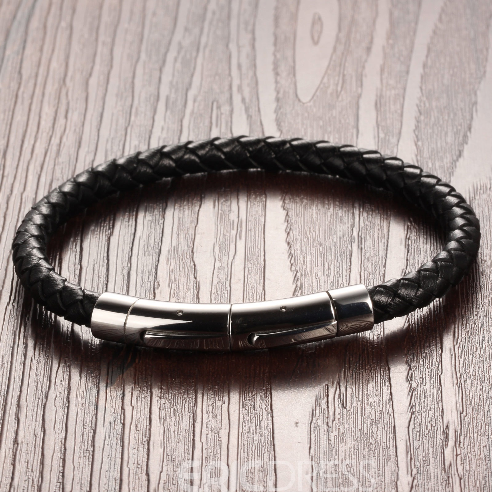 Stylish Woven Men's Leather Bracelet
