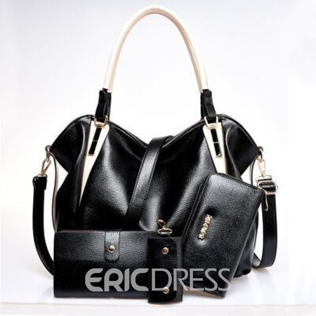 Ericdress Simple Solid Color Big Tote Bag(4 Bags)