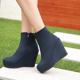 Ericdress Korean Suede Wedge Martin Boots