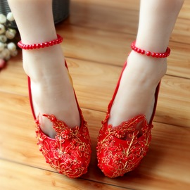 Ericdress Lace Ankle Strap Wedding Shoes