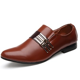 Ericdress Slip-on Pailletten Square Ferse Herren Halbschuhe