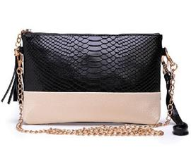 Ericdress Crocodile Pattern Cowhide Shoulder Bag