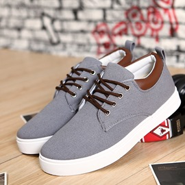 Ericdress Smart Herren Canvas Schnürschuhe