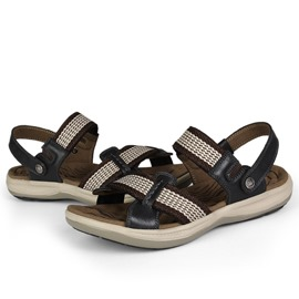 Ericdress Buckle Hollow Flat Heel Round Toe Men's Sandals