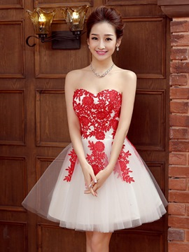 Ericdress bustier applications lacets Homecoming robe