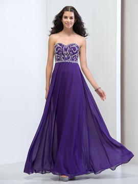 Ericdress Sweetheart Beading Sequins Floor-Length Prom Dress