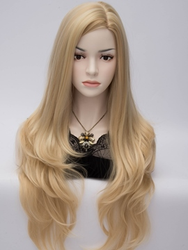 Ericdress Long Full Natural Heat-Resistant Straight Hair Blonde Wig
