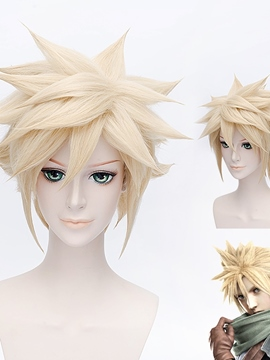 Ericdress Final Fantasy VII Cosplay Short Golden Wig 12 Inches