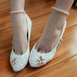 Ericdress Handmade Pearl&crystal Wedding Shoes