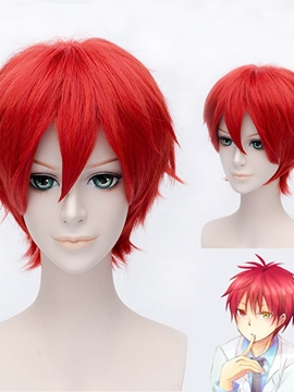 Ericdress Akashi Seijuro Cosplay Short Red Wig 12 Inches