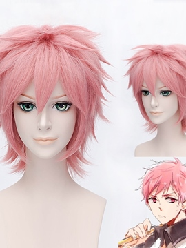 Ericdress Shima Renzou Cosplay Short Pink Wig 12 Inches