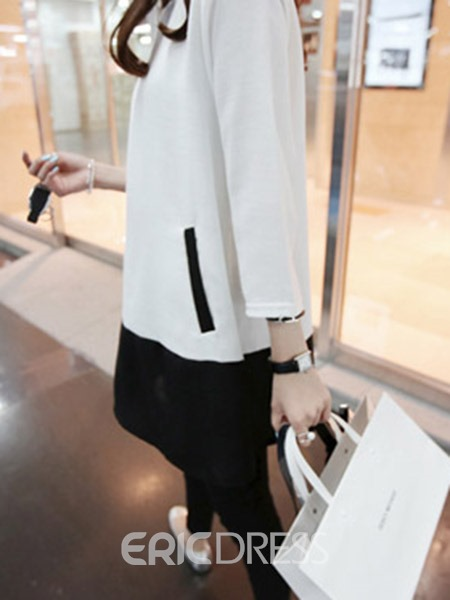 Ericdress Mid-Length Patchwork Loose Knitwear