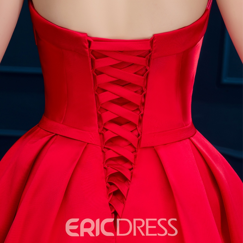 Ericdress Sweetheart robe de Cocktail courte Lace-Up