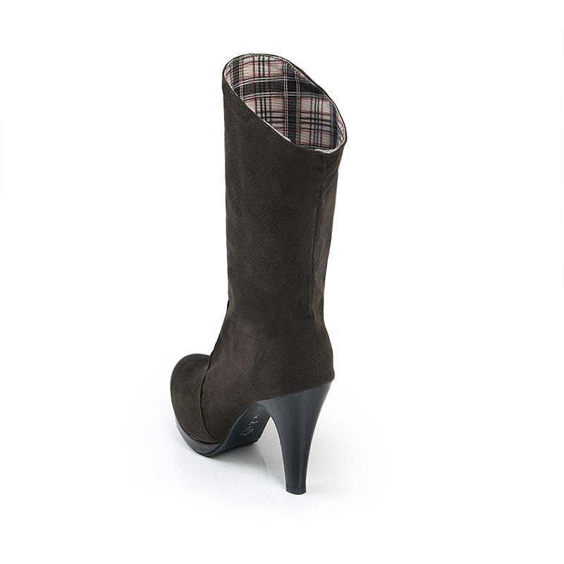 Ericdress Grid Patchwork High Heel Boots