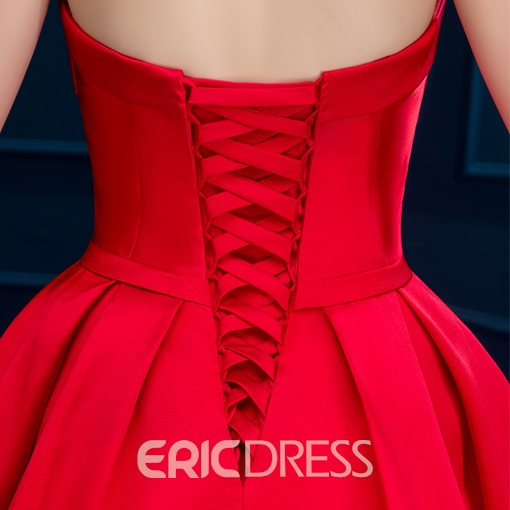 Ericdress Sweetheart Lace-Up Short Cocktail Dress