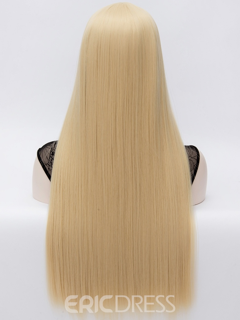 Ericdress Keyshia Kaoir Central Parting Long Straight Blonde Hair Wigs 32 Inches