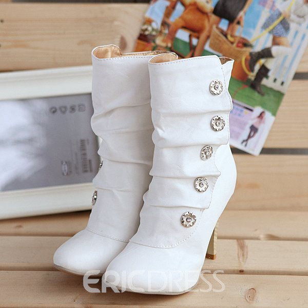 Ericdress Rhinestone Decoration High-heel Boots