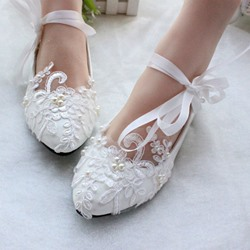 Ericdress Lace Flat Wedding Shoes фото