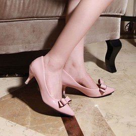 Ericdress Solid Color Point-toe Pumps