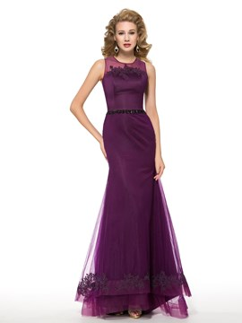 Ericdress Fancy Jewel Mermaid Mother of the Bride Dress
