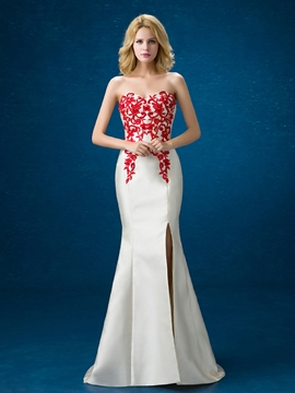 Ericdress Sweetheart Appliques Side-Split Long Evening Dress