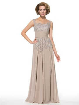 ericdress Phantasie Juwel Sicken appliques eine Linie lange Mutter der Braut Kleid