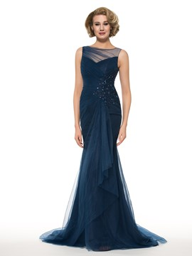 Ericdress Fancy Bateau Applikationen Meerjungfrau Mutter der Brautkleid