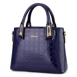 Ericdress Simple All Match Check Handbag