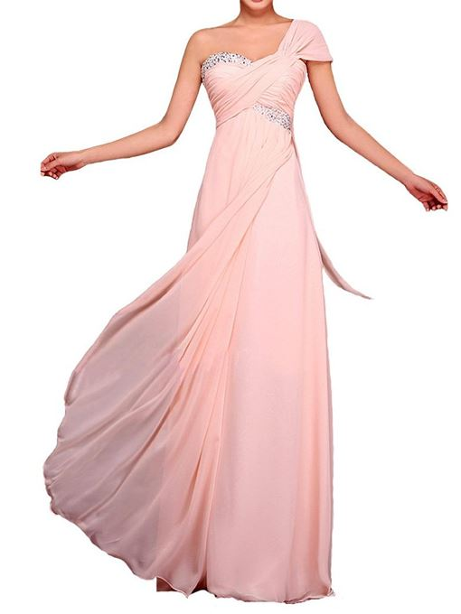 Ericdress Beautiful One Shoulder Empire Long Bridesmaid Dress