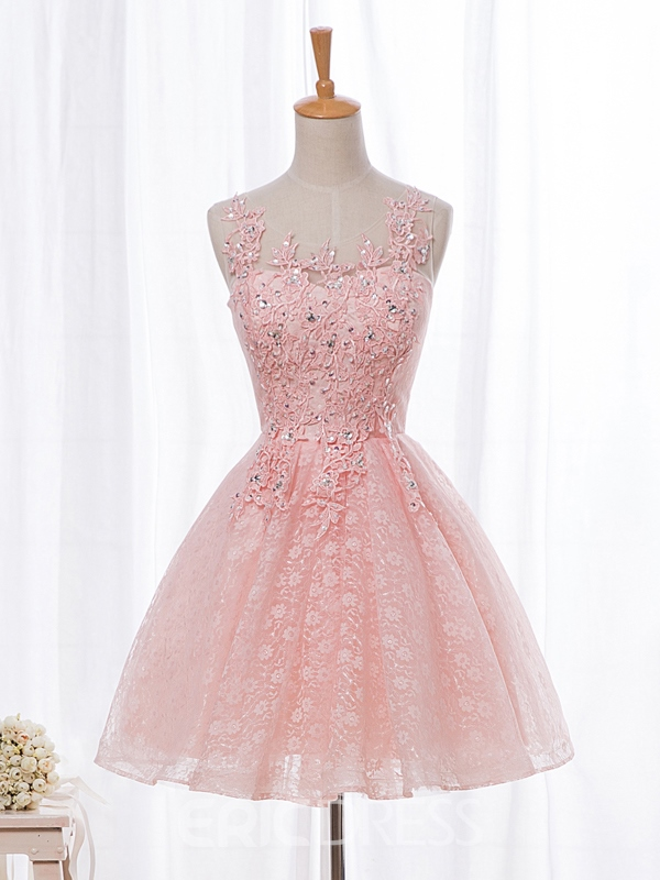 Ericdress A-Line Applilques Beaded Short Homecoming Dress