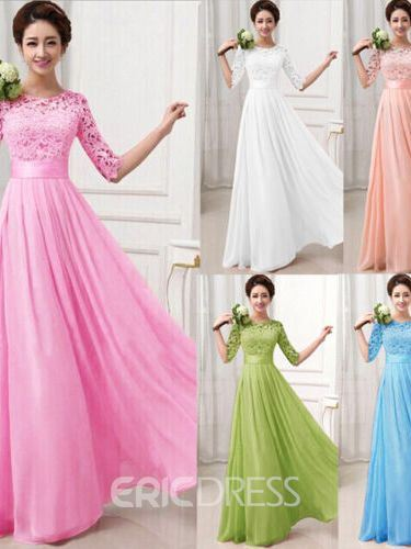 Ericdress Charming Lace A Line Long Bridesmaid Dress