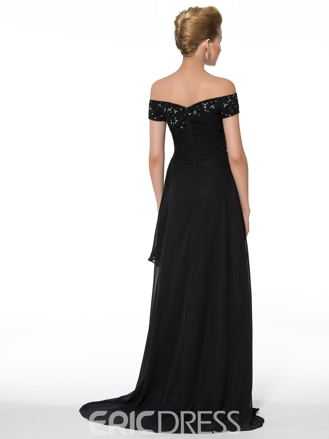 Ericdress Off the Shoulder Appliques Sequins Mother of the Bride Dress
