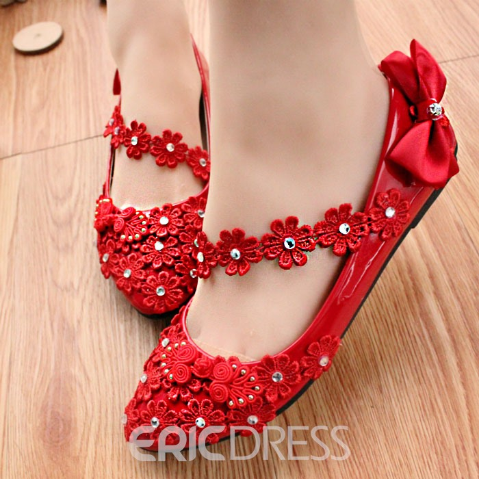 Ericdress Rhinesatone&bowtie Wedding Shoes