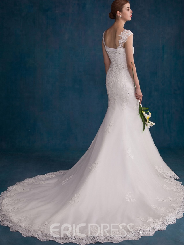 Ericdress Elegant Straps Chapel Train Mermaid Wedding Dress