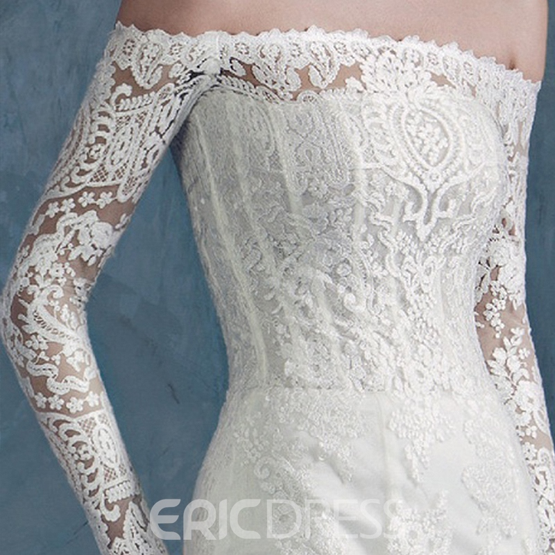 Ericdress Beautiful Off the Shoulder Lace Mermaid Wedding Dress