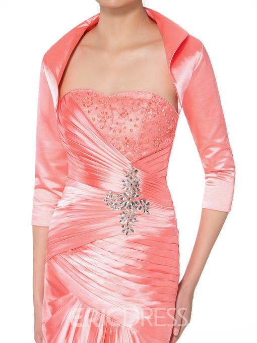 Ericdress Elegant Strapless Beading Mermaid Mother of the Bride Dress With Jacket