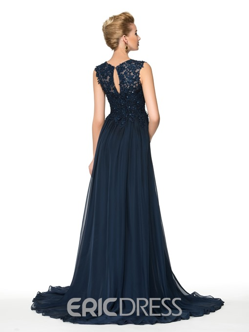 Ericdress Elegant V Neck Appliques Long Mother of the Bride Dress